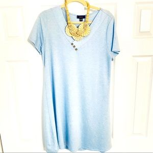 {Espresso} Light Blue Swing Dress - Large